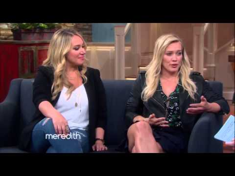 Hilary Duff and Haylie Duff on the Meredith  17 September 2015