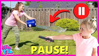PAUSE Challenge Sneaky Jokes and Pranks with Kin Tin and Mom!!