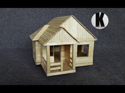 Как сделать домик из палочек от дерева своими руками