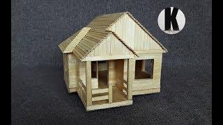 Как сделать дом из палочек? / How to make a house of sticks?
