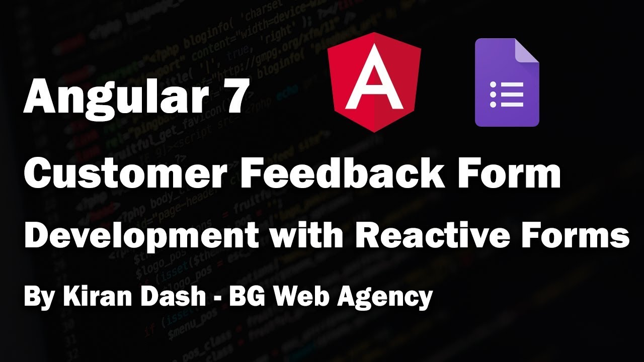 Angular 7 - Creating a Customer Feedback Form with Reactive Forms