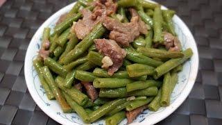 香港食譜 : 白豆角煮豬肉