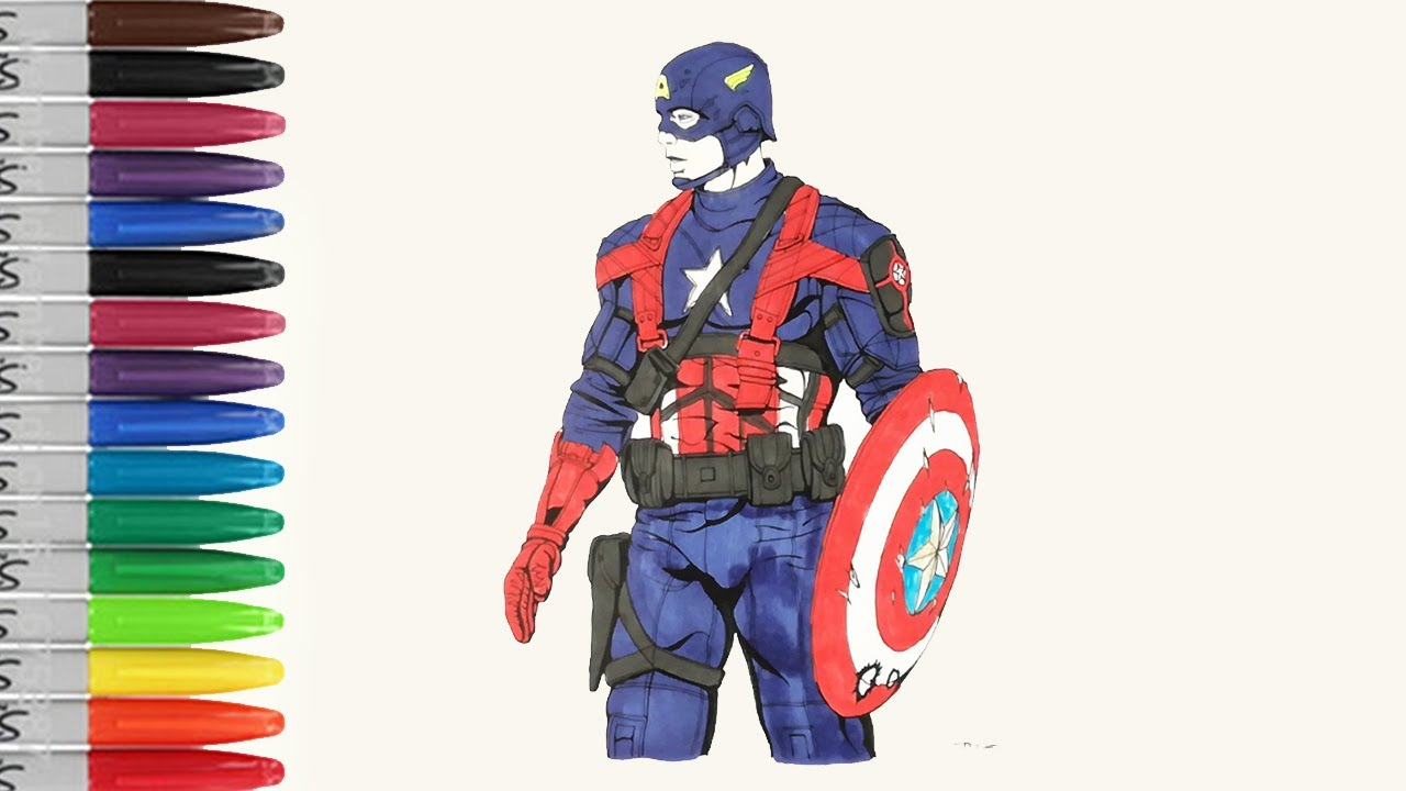 captain america with first avenger movie coloring pages sailany