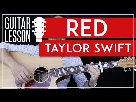 Red Guitar Tutorial - Taylor Swift Guitar Lesson 🎸 |Easy Chords +Solo + Guitar Cover|