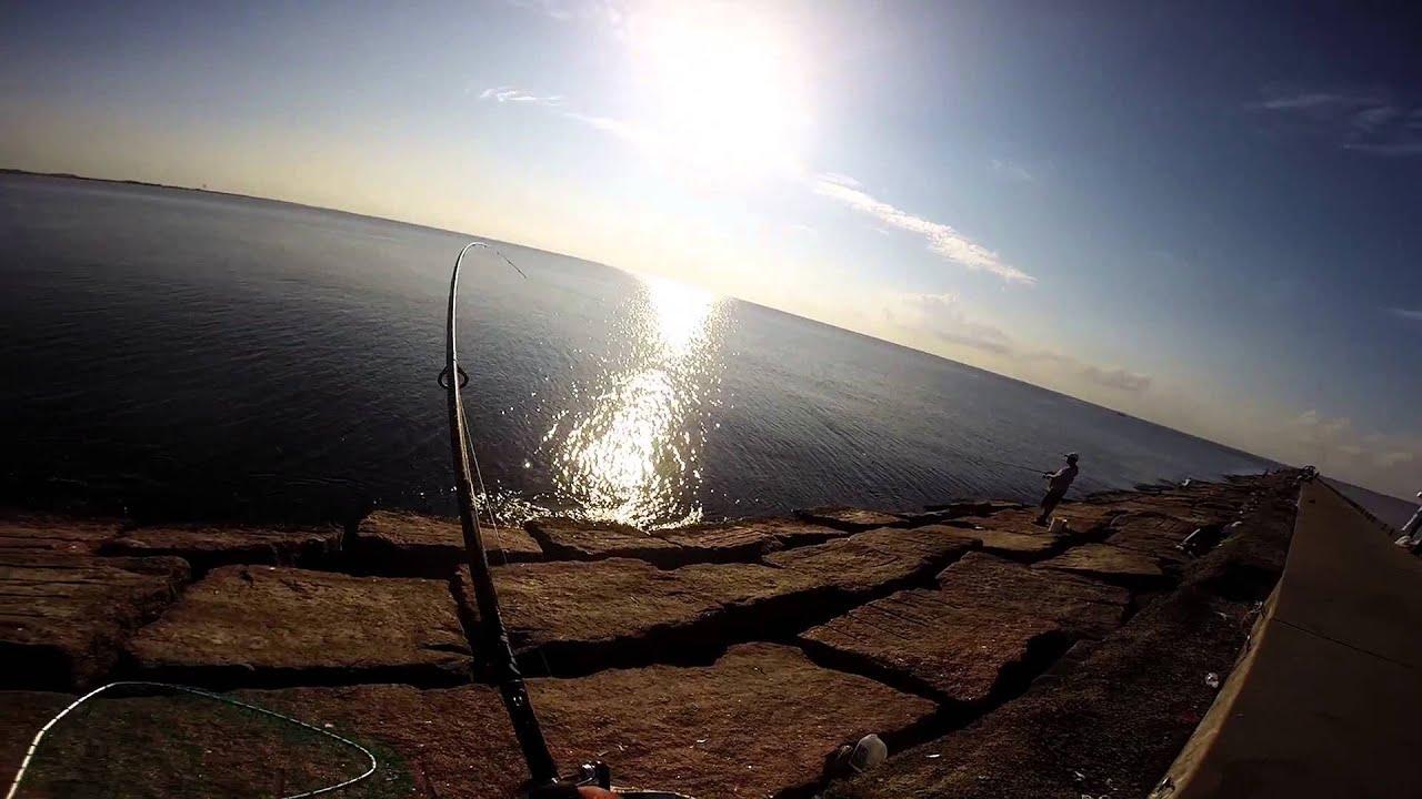 Fishing surfside jetties june 2015 youtube for Surfside fishing report