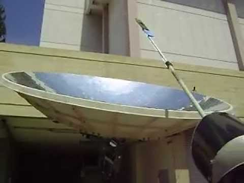 csp concentrated solar power dish at fresno state