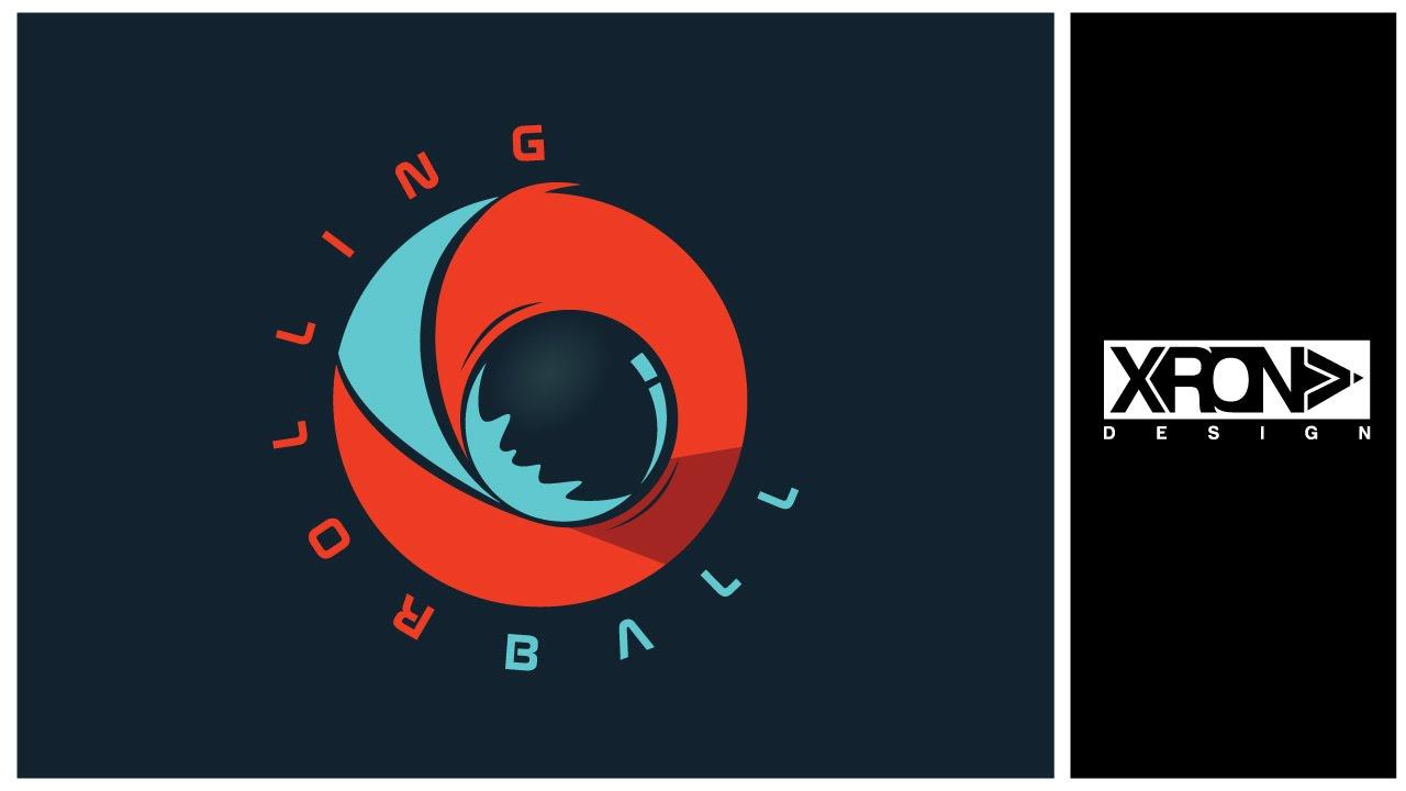 logo design rolling ball logo youtube