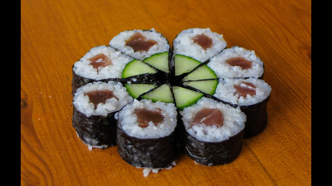 Full Moon Sushi Roll - Art Sushi Recipe - YouTube