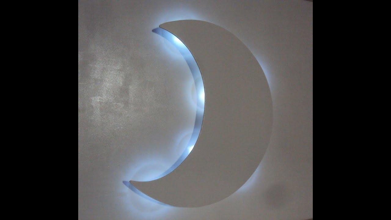 Luminaria Quarto Bebe Mercadolivre ~ Lua com luz de led luminaria decora??o quarto de bebe e porta de
