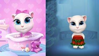Моя Говорящая Анджела #1 Кошка Малышка Мультик про котиков Мульт ИГРА # Клубника Геймс