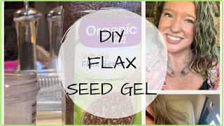 DIY FLAX SEED GEL | VLOGTOBER DAY 5 | #curlygirlmethod