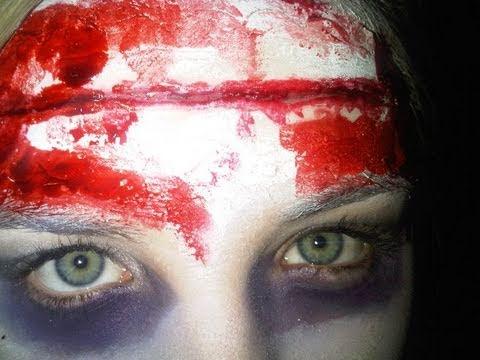 DEAD CHEERLEADER?! - Meganheartsmakeup Halloween Tutorial - YouTube