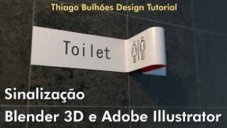 Como fazer Sinalização Adobe Illustrator para Blender 3D tutorial