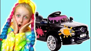 Wash car song by Tawaki kids \Pretend play with children car