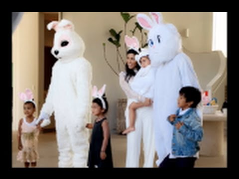 Kanye West Lamar Odom And Kim Kardashian Celebrate Easter Together