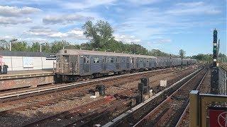 NYC Subway HD 60fps: Budd R32 A Train @ Howard Beach - JFK Airport (5/24/19)