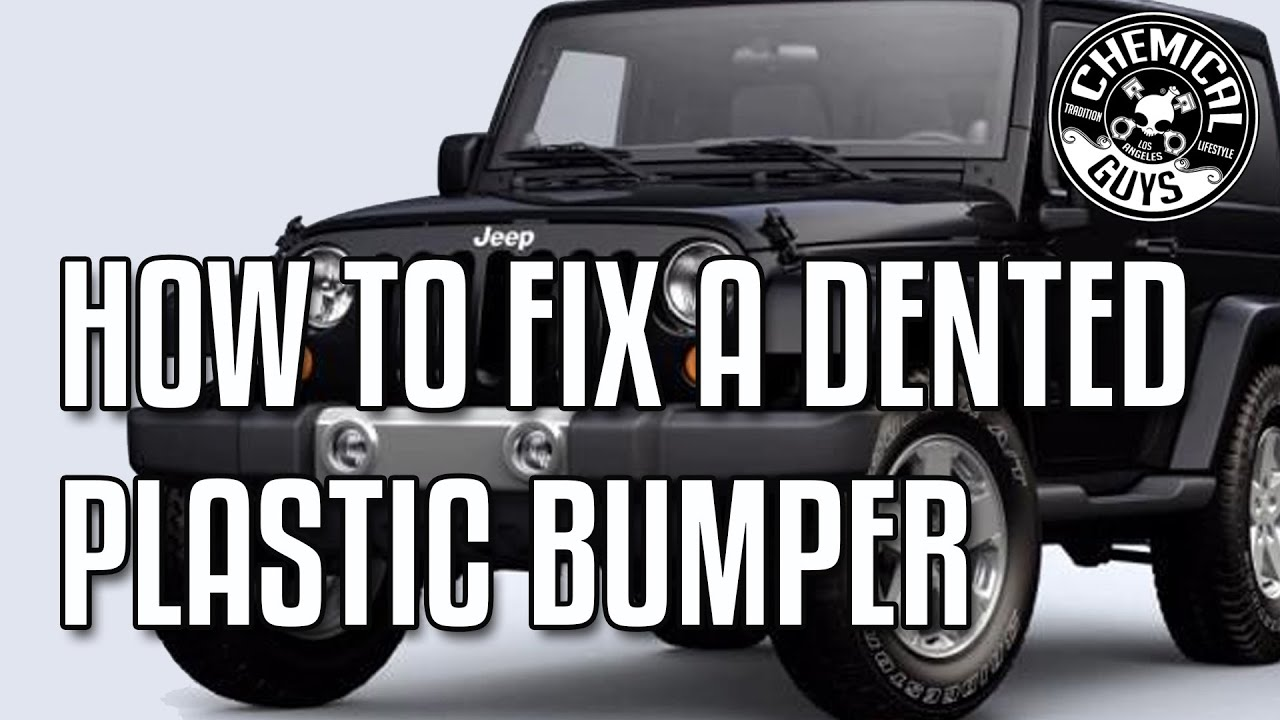 jeep bumper repair  How To Fix a Dented Bumper - Chemical Guys - YouTube