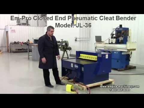 Em-Pro Closed End Pneumatic Cleat Bender Model JL-36