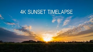 Sunset Timelapse in 4K