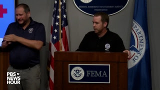 WATCH: FEMA officials provide updates on Hurricane Florence
