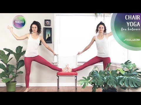 Chair Yoga For Balance || Yoga With Ilona
