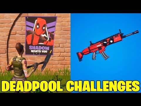 Fortnite Deadpool Challenges.Week 6.Poster Locations - Deadpool Wrap