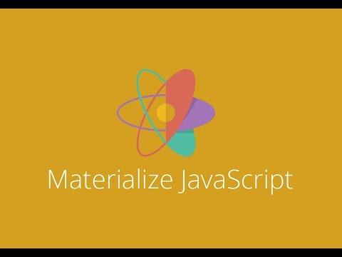 Materialize Modal lesson 6