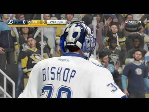 NHL® 17 Pittsburgh Penguins vs Tampa Bay Lightning Marc Andre Fleury shutout