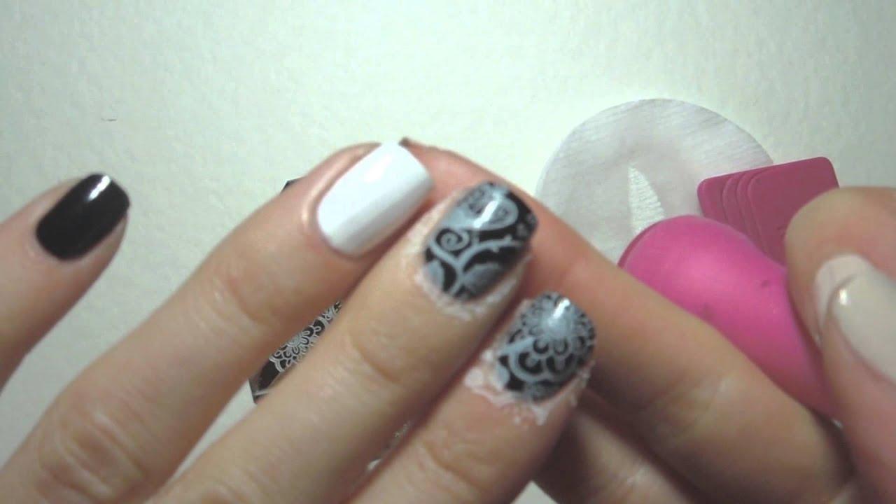 Nail Art Review Qa83 Born Pretty Arabesque Flower Nail