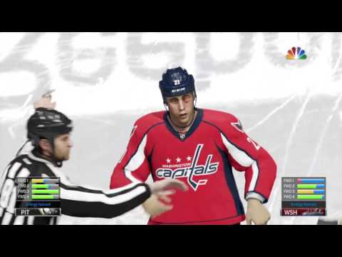 E:9 Joe Yinzer fights Brooks Laich - Pittsburgh Penguins v. Washington Capitals