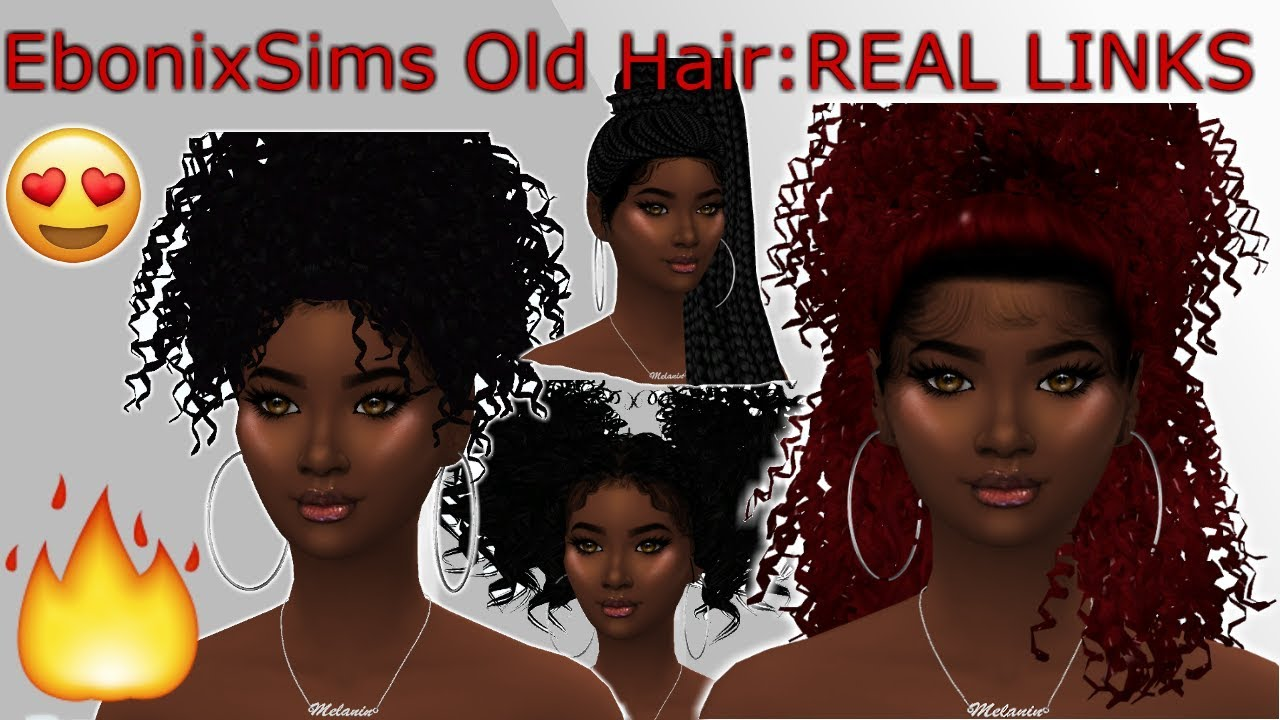 Sims 4 Curly Hair Cc Ebonix Cc Haul Cc Shopping Youtube