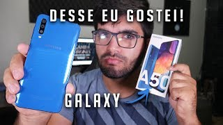 GALAXY A50, Primeiro intermediário da SAMSUNG que eu GOSTEI! | Unboxing+Comparações