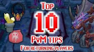 My Top 10 Tips for Returning Players  PvM!