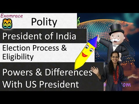 President of India – Election Process, Eligibility, Powers & Differences with US President