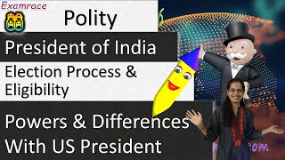 President of India – Election Process, Eligibility, Powers & Differences with US President Mp3