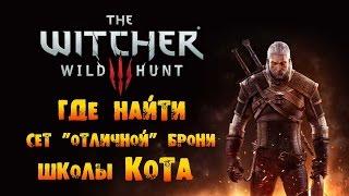 """The Witcher 3: Wild Hunt - Где найти сет """"Отличной"""" Брони Школы Кота!"""