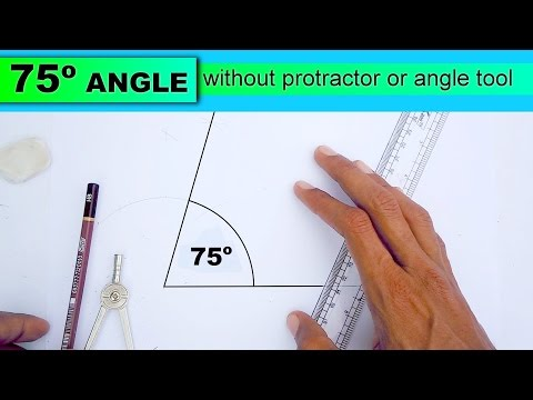 Learn to draw 75 degree angle without protractor or angle tool