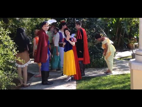 RARE Behind the scenes meet & greet Disney Princes & Princesses Elsa Anna Frozen Cinderella fairies