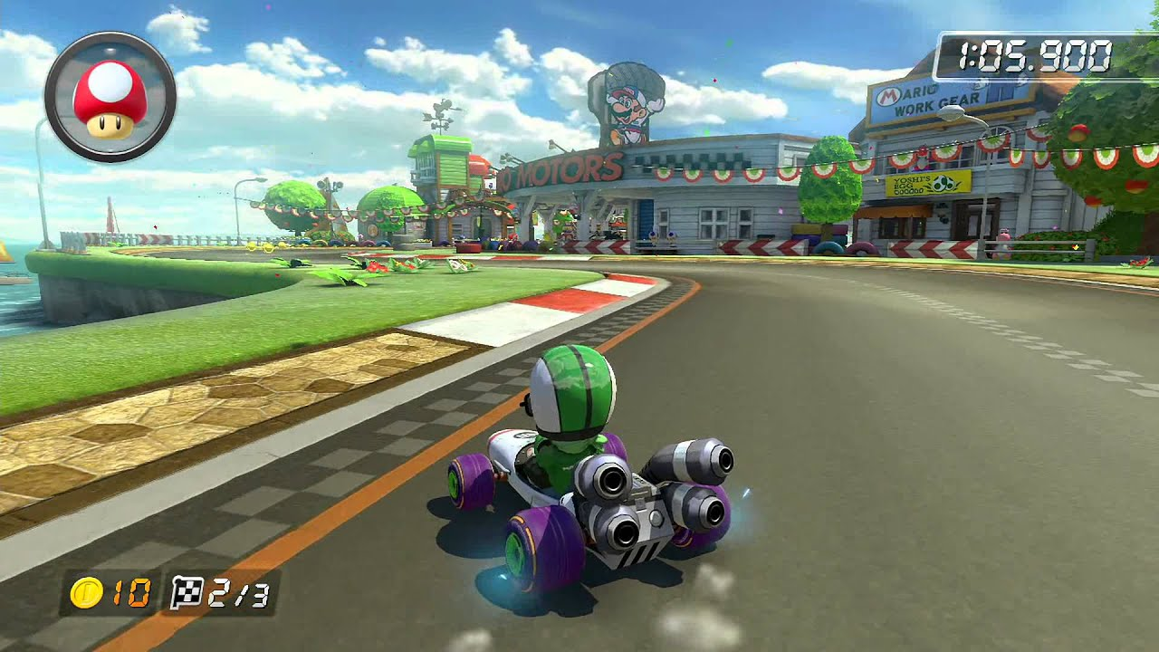 gcn yoshi circuit 1 j k mario kart 8 world record youtube. Black Bedroom Furniture Sets. Home Design Ideas