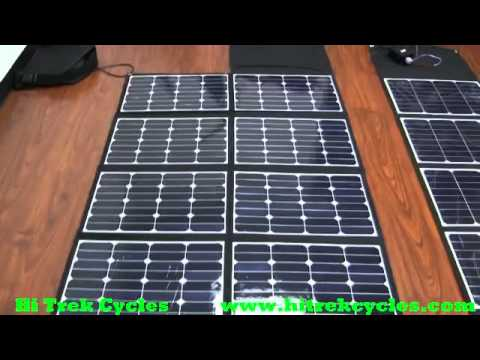 120w 300w Solar Panels To Charge Electric Bikes Youtube