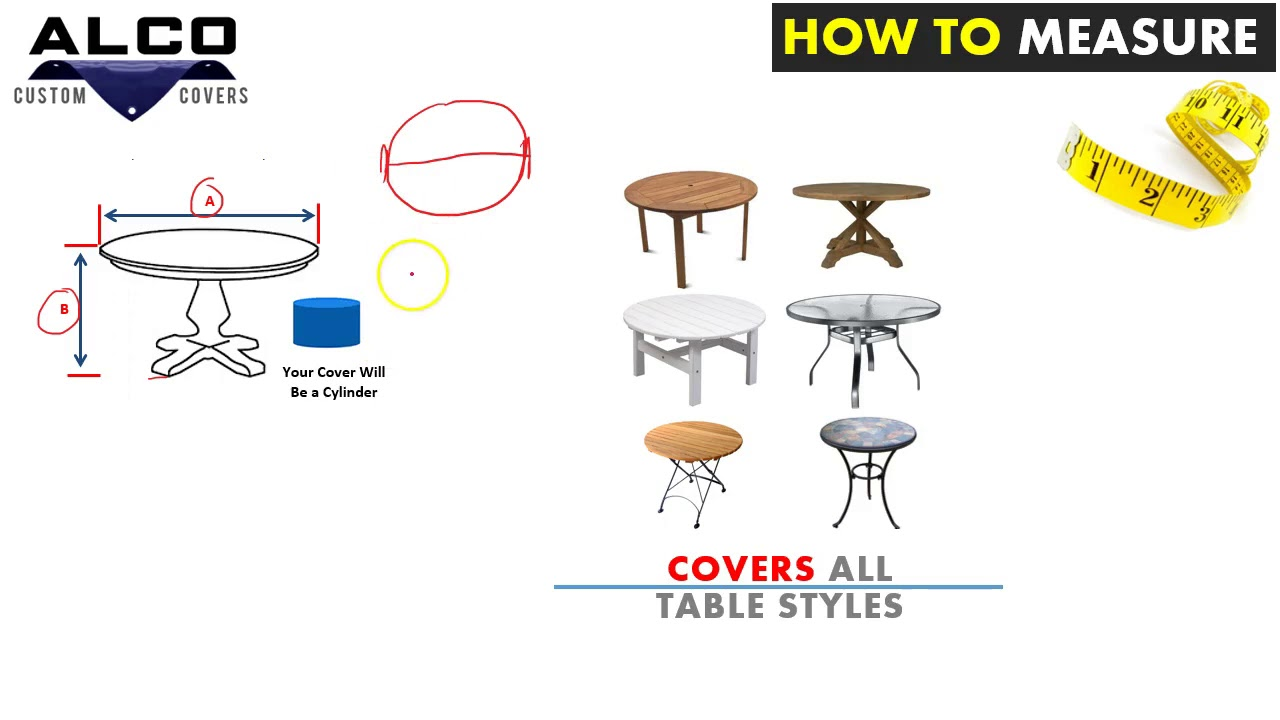 How To Measure Round Table.How To Measure For A Outdoor Round Table Cover