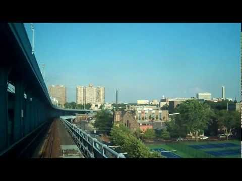 Ride PATCO over bridge from Philly to Camden (driver's view).