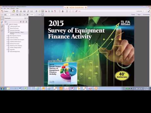 ELFA Webinar: Results of the 2015 Survey of Equipment Finance Activity