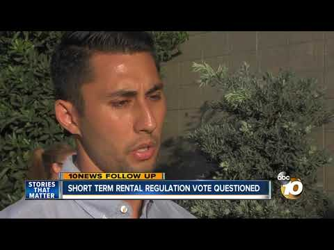 Short-term Rental Regulation Vote Questioned