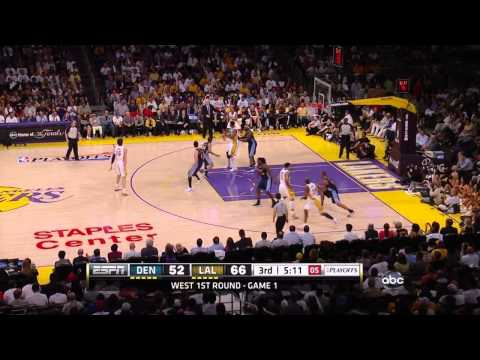 LA Lakers vs nuggets Game 1, Round 1 2012 NBA Playoffs (Lakers Highlights)