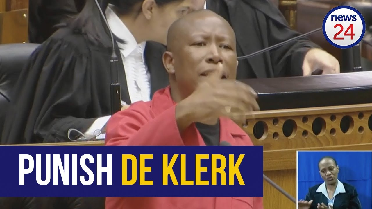 WATCH | 'Punish De Klerk' then white supremacists might learn there are consequences - Malema - News24