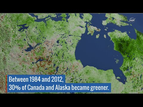Climate Change Turning Arctic Green - View From Space