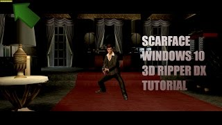 Scarface PC gameplay Windows 10 (3D ripper DX explained)
