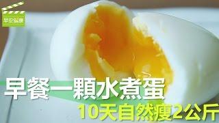 早餐一顆水煮蛋,10天自然瘦2公斤 (電鍋水煮蛋)【早安健康】