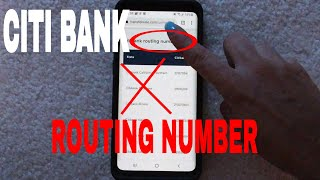 ✅  Citi Bank Routing Number - Where Is It? 🔴